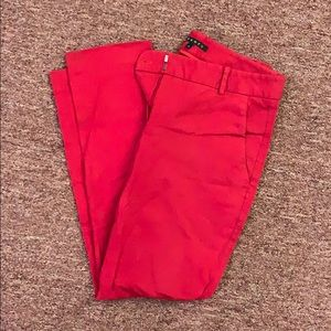 Theory ankle pants red size 4